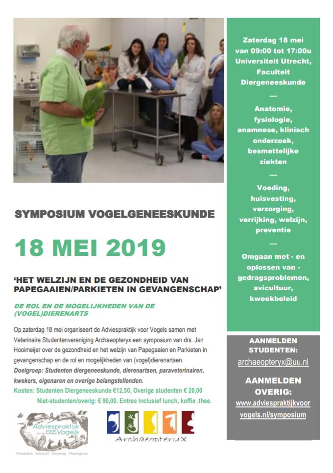 Symposium Vogelgeneeskunde 2019